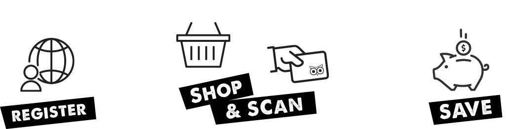 Shop, scan, save